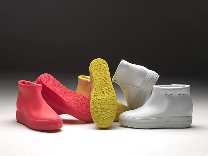 <p>Pritzker Architecture Prize winner Jean Nouvel's most recent project is--surprisingly--a line of leather sneakers, for Italian Ruco Line.</p>