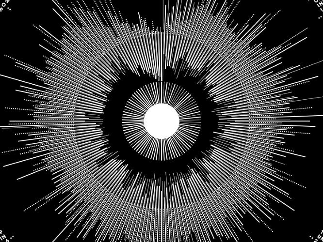 "<p>Crnokrak explains on his site that the interior cluster is a ""comparative waveform analysis of the three studio versions (outer ring) recorded by Joy Division and the two posthumous remixes (inner ring) released in 1995.""</p>"