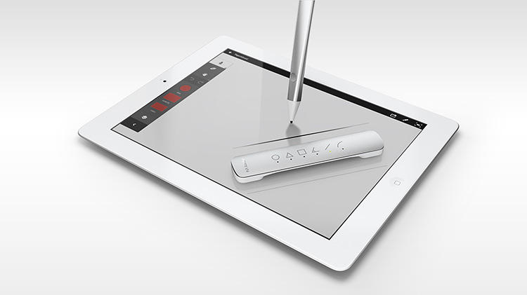 <p>Designed by Ammunition, the pen is an aluminum stylus that can replace your finger on the iPad screen.</p>