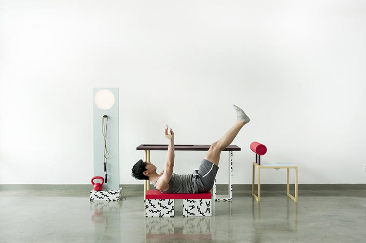 <p>Darryl Agawin designed No, Sweat! as a means to encourage movement amongst those stuck at a desk all day.</p>