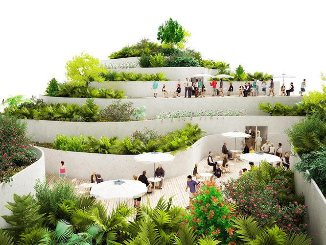 <p>NL Architects' Sanya Lake Park Super Market Proposal is top-heavy, to say the least. The architects were commissioned to devise a simple grocery store in Sanya, a popular resort in southern China. What they ended up with was anything but.</p>
