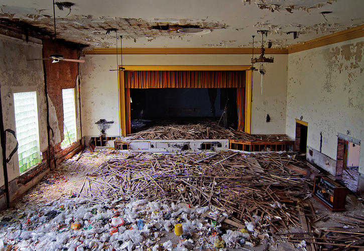 <p>Photographer Julia Solis explores the modern ruins of urban places. In the book <em>Stages of Decay</em>, she focuses on derelict theaters.</p>