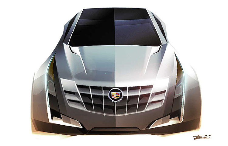<p>Cadillac ATS--early development sketch.</p>