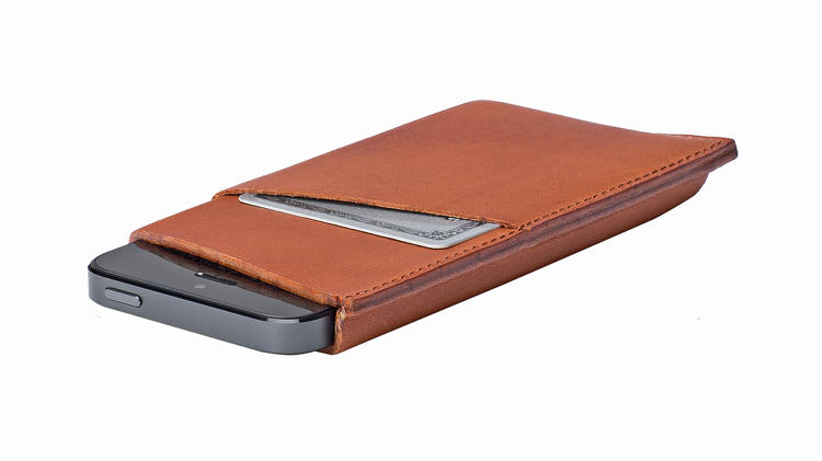 <p>The Cross Cut Sleeve for iPhone 5 includes a slip pocket just big enough for a couple of credit cards and a few bills. It acknowledges what you already know: that your iPhone is becoming more important than your wallet.</p>