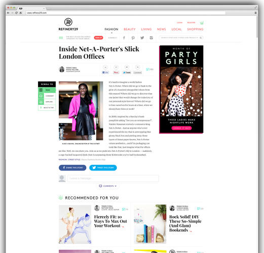 <p>The new graphic layout greets viewers first with three feature stories, represented more as images than text. As readers scroll down, they can view editor's picks, video, and more.</p>