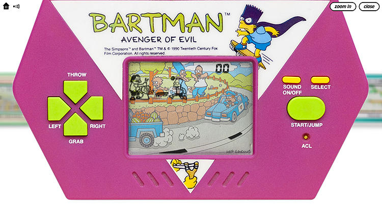 <p>Do the Bartman like it's 1989--and hear the satisfying &quot;click clack&quot; sound effects when you mash the buttons.</p>