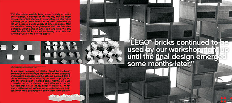 <p>You even get to see how famous architects and designers play with Lego themselves.</p>