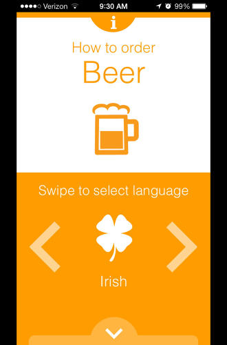 <p>Using Pivo is as simple as swiping to the language you want to order a beer in, then swiping down.</p>