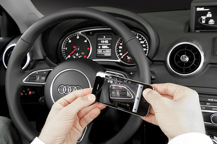 <p>With Audi's iOS app, you can identify parts of your car just by pointing your phone at them.</p>