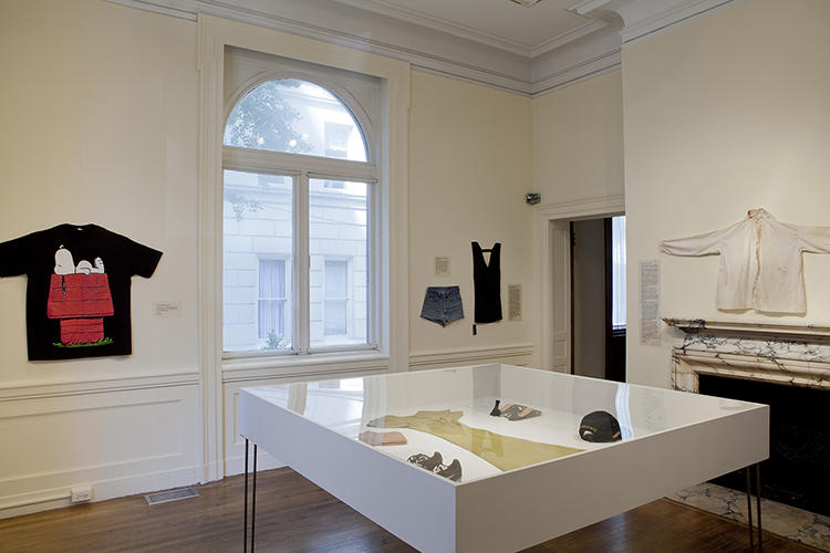 <p>Spivack says she designed the exhibition space in a way that would allow viewers to fill in their own narratives: &quot;I didn't want to put the garments on mannequins, because that would immediately give a specific body shape. I also didn't want to put them on hangers or in a domestic space. Everything is totally flat, against the wall, presenting them like art objects.&quot;</p>
