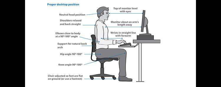 <p>And just in case you want to check your own workplace posture, here's a chart.</p>