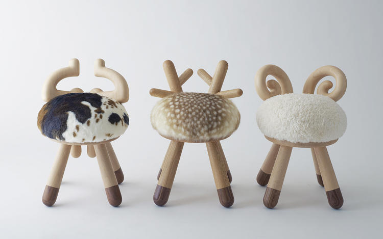 <p>Takeshi Sawada | <a href=&quot;http://cottreed.wordpress.com/&quot; target=&quot;_blank&quot;>Animal Stools</a> | Japan. Adorable animal-inspired stools.</p>
