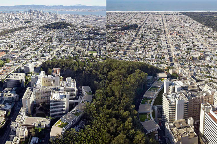 <p>These aerial shots reveal the center's prominence in the cityscape and also how unique of a building Viñoly has designed.</p>