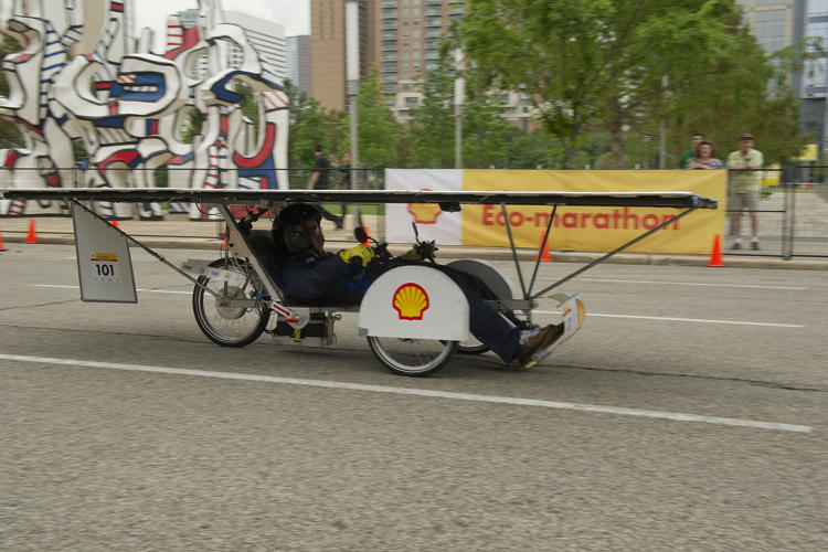 <p>The Batmobile solar-powered vehicle, created by the Newburgh Free Academy team from Newburgh, N.Y, achieved a 239 mpg equivalent.</p>