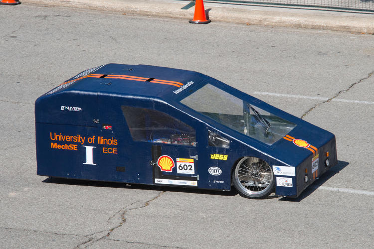 <p>This hydrogen fuel cell vehicle from The University of Illinois Urbana-Champaign team squeezed out the equivalent of 66 mpg.</p>
