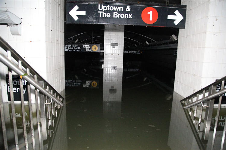 <p>The South Ferry Station, full of water.</p>