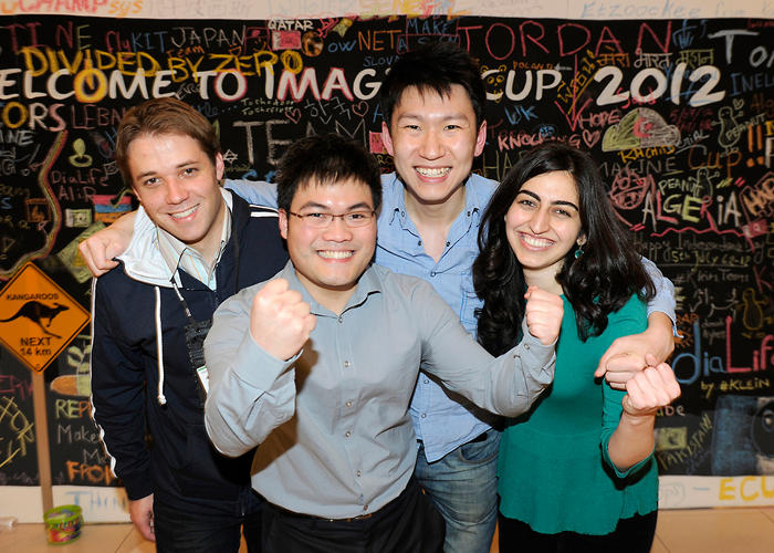 <p>Team StethoCloud, which has &quot;mobile hybrid stethoscope&quot; to diagnose childhood asthma and pneumonia.</p>