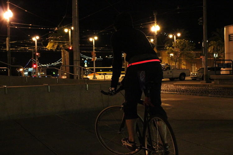 <p>The glowing, wearable <a href=&quot;http://www.fastcoexist.com/1680244/a-glowing-bike-light-belt-to-keep-you-safe-in-style#3&quot; target=&quot;_self&quot;>Halo Belt</a></p>