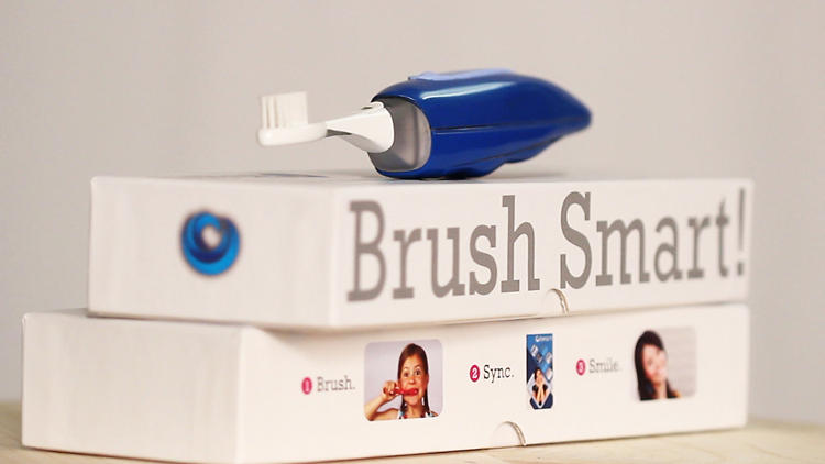 <p>The <a href=&quot;http://www.fastcoexist.com/1680659/the-beam-toothbrush-knows-if-youre-not-brushing-enough&quot; target=&quot;_self&quot;>Beam Toothbrush measures all your tooth cleaning metrics</a>.</p>