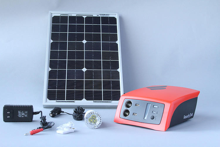 <p>Get easy power from the sun with the <a href=&quot;http://www.fastcoexist.com/1680161/can-this-portable-solar-charger-create-african-electricity-entrepreneurs#1&quot; target=&quot;_self&quot;>Fenix ReadySet Solar Kit</a>.</p>