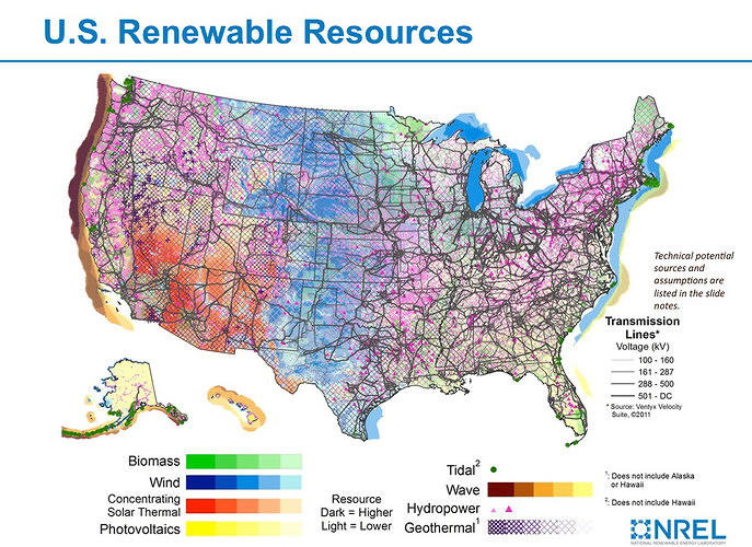 <p>The U.S. has a lot of untapped renewable energy, from wind in the Midwest to solar in the Southwest. <a href=&quot;http://www.fastcoexist.com/1680325/maps-show-the-incredible-potential-of-renewable-energy#1&quot; target=&quot;_self&quot;>These maps show where we could maximize our clean power resources.</a></p>