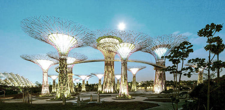 <p>A new park in Singapore doesn't just have plants, it <a href=&quot;http://www.fastcoexist.com/1680097/singapore-s-supertrees-light-up-the-night&quot; target=&quot;_self&quot;>also features 18 crazy tree-shaped vertical gardens that glow at night.</a></p>