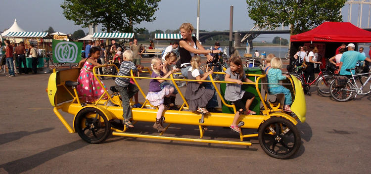 <p>In the Netherlands, bikes abound. And now, they even take kids to school. <a href=&quot;http://www.fastcoexist.com/1679248/dutch-kids-pedal-their-own-bus-to-school&quot; target=&quot;_self&quot;>Behold, the bicycle school bus.</a></p>