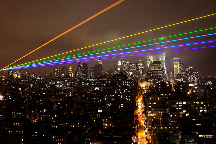 <p>The laser-beamed art project by artist Yvette Mattern is powerful enough to cross from Manhattan to the storm-devastated neighborhoods of Brooklyn and Queens, <a href=&quot;http://www.fastcoexist.com/mba/1680979/a-35-mile-laser-rainbow-illuminates-new-york-as-a-memorial-to-sandys-victims&quot; target=&quot;_self&quot;>providing a little hope to still-recovering communities that calm is on the way.</a></p>