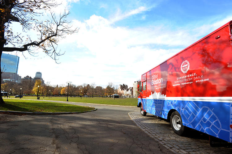 "<p>In Boston, the mobile business craze is getting a civic twist with the city's new ""City Hall To Go"" truck, a slick new motorized municipal office with a ""menu"" of common public services.</p>"