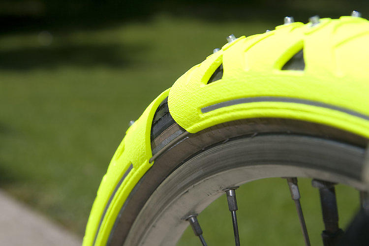 <p>Bike Spikes are rubber casings fitted with iron teeth to provide a bit of extra traction to bike wheels traveling over snow and ice.</p>