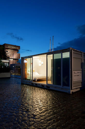 <p>The hotel has made just one appearance so far, showing at a design fair in Belgium before making its way to the center of Antwerp along the Scheldt River.</p>