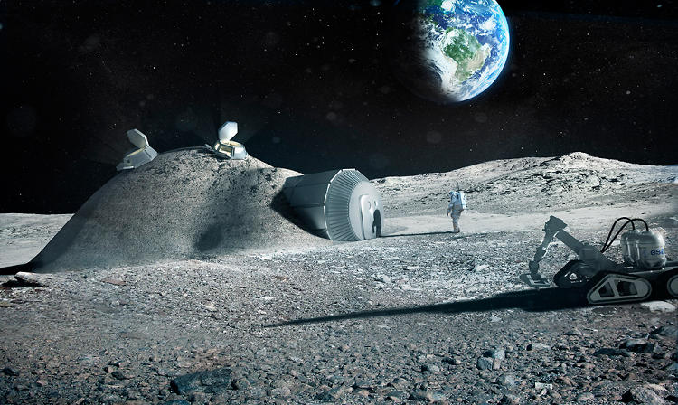 <p>Architecture firm Foster + Partners and the European Space Agency are working on a 3-D printed lunar base so that we could build a structure there without transporting all the materials.</p>