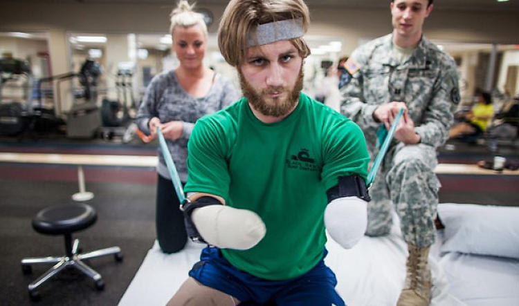 <p>Taylor Morris, the impetus behind Chive Charities, was injured by an IED in Afghanistan. He lost both his arms and both his legs.</p>