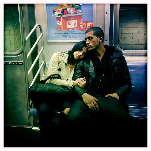 <p>She says: &quot;So often on the train we bury ourselves in something we're reading or music we're listening to and forget to look around and take in some great human drama that is constantly being played out in New York.&quot;</p>