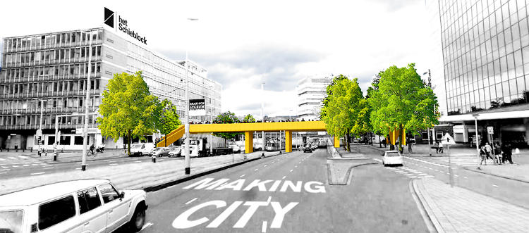 <p>The idea is reconnect two parts of the city cut off from each other by traffic.</p>