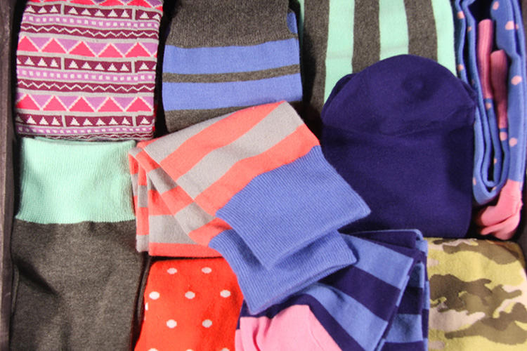 <p>The U.S. wastes 21 billion pounds worth of textiles annually, but your old socks don't have to be part of that. Some of them will be repurposed into new socks; others will be recycled through a professional textile recycling company.</p>
