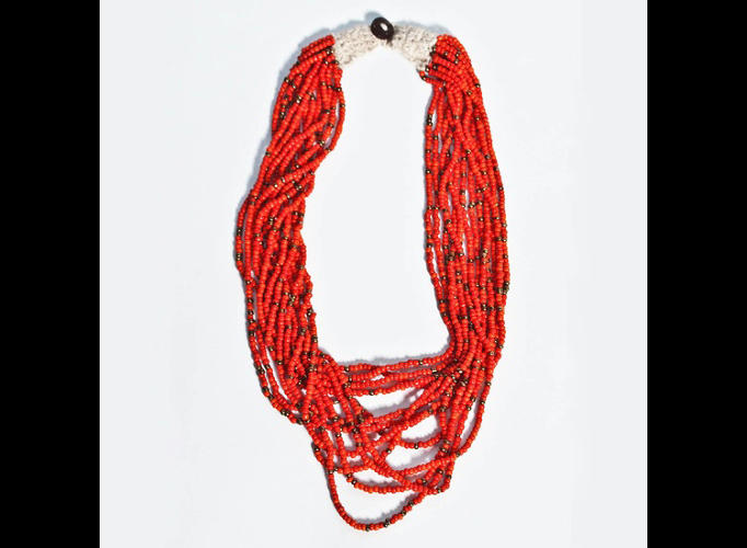 <p>These necklaces are also made by female Kenyan artisans, giving them a source of income.</p>