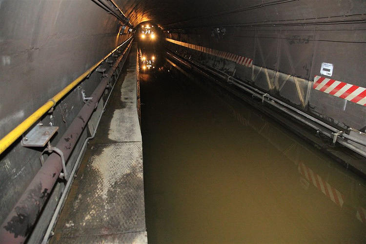 <p>They eventually had to remove <a href=&quot;http://www.fastcoexist.com/1680851/a-look-inside-the-heroic-cleanup-effort-in-new-yorks-subways&quot; target=&quot;_self&quot;>hundreds of millions of gallons of water before the system could be fully restored</a>.</p>