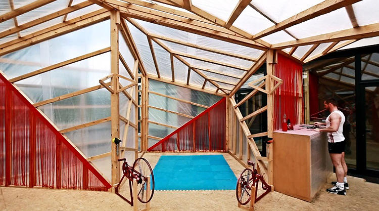<p>The JF-Kit House by the Spanish design firm Elii is an experiment in &quot;domestic fitness.&quot;</p>