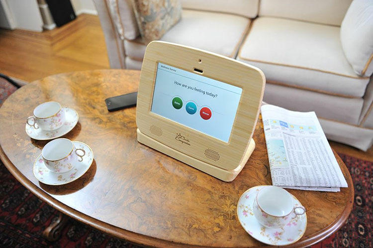 <p>The bamboo-framed device goes beyond the expected large fonts, buttons, and extra-loud speakers to include a bevy of features tailored to the needs of the elderly and their families, including reminders to take medication, emails, and texts that pop up without having to sign in to an account, download an app, or click anything.</p>