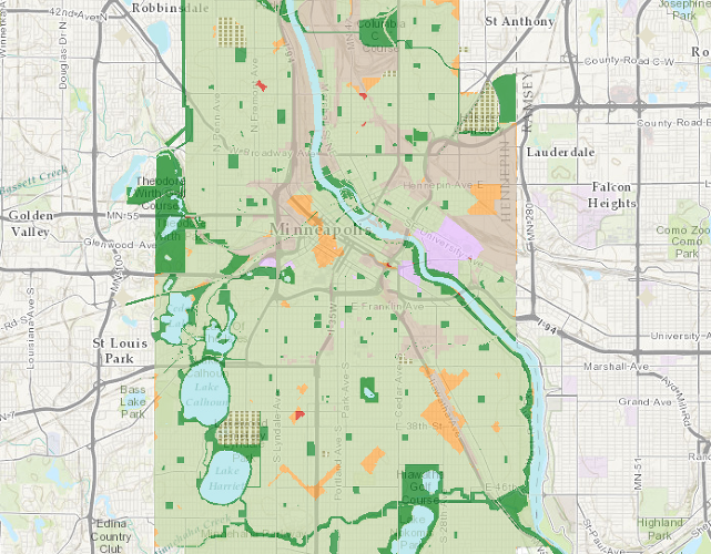 <p>The Trust for Public Land's ParkScore rates the cities with the best park systems in the country:<br /> 1. Minneapolis</p>