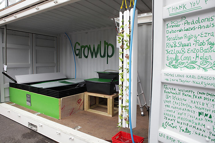 <p>The project was funded on Kickstarter to demonstrate the possibilities of aquaponic farming.</p>