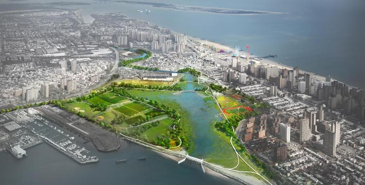 <p>The plan focuses on resilience, like this park that is designed to be flooded.</p>