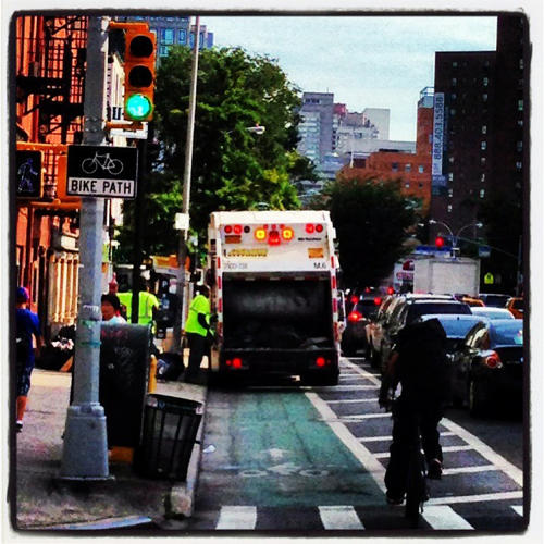 <p>Founder Marc Jayson Climaco began documenting items (mostly SUVs) blocking bike lanes last week.</p>