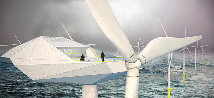 <p>The Wind Turbine Loft is an architectural project that seeks to create housing for the hordes of technicians who will some day need to monitor the well-being of offshore wind farms.</p>