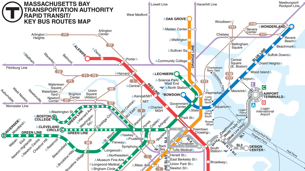 Boston Subway Map Poster.Boston Subway Map Map Of World Map