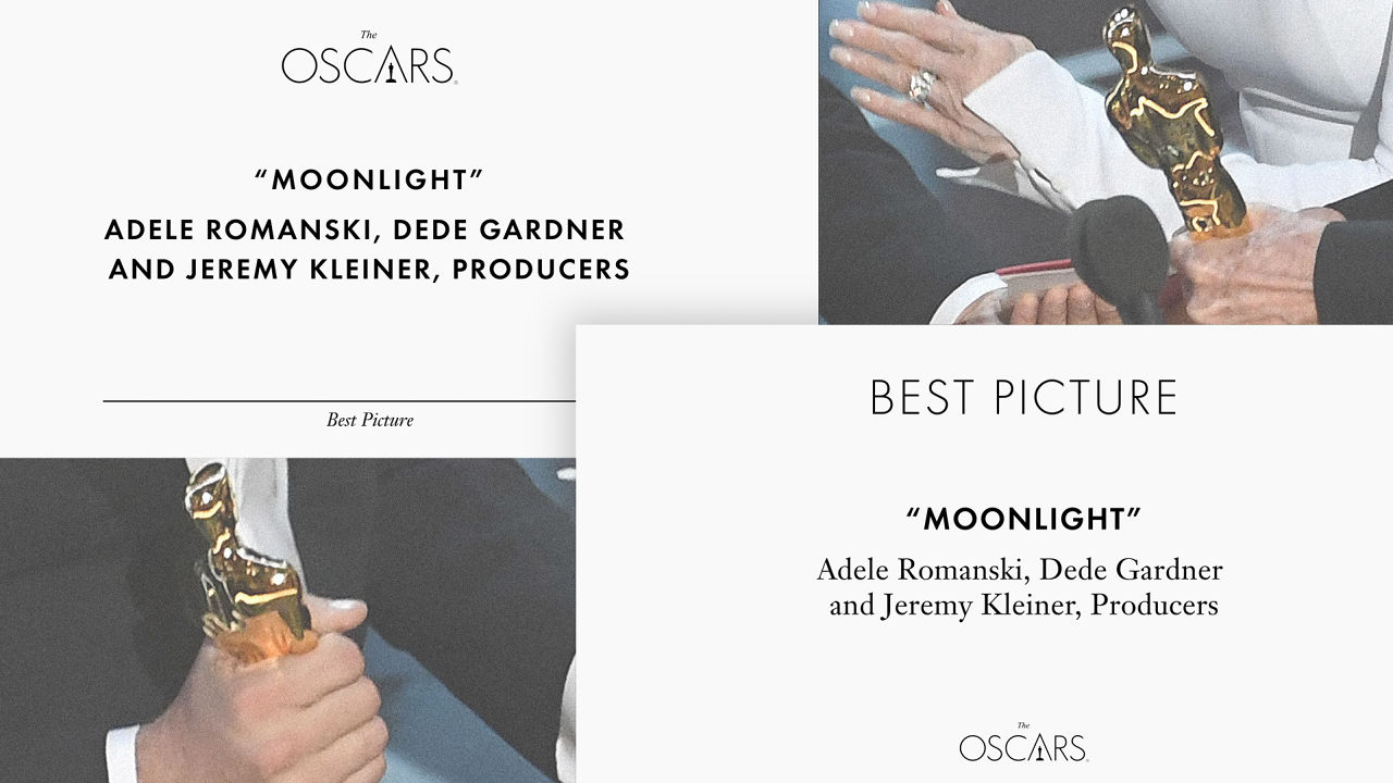 Typography Ruined The Oscars' Biggest Moment. This Guy Fixed…