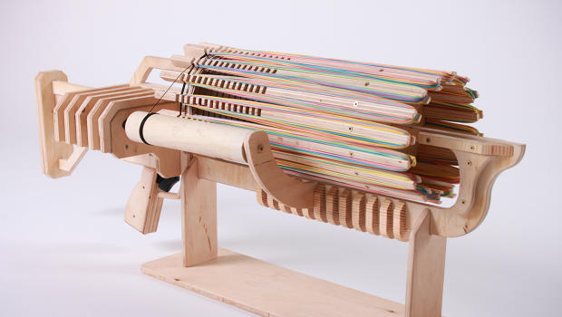 Insane Toy Gatling Gun Fires 672 Rubber Bands In Less Than