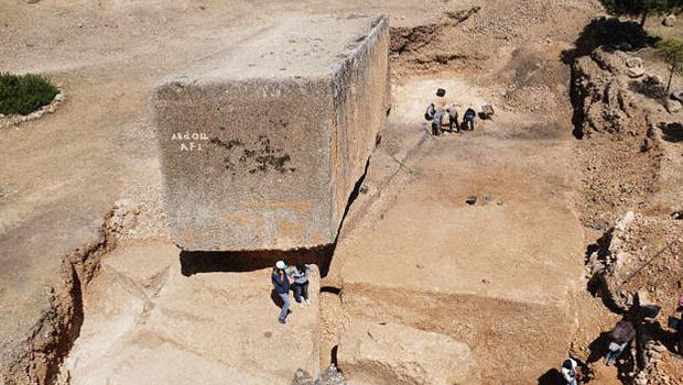 Archeologists find the largest stone block ever carved by
