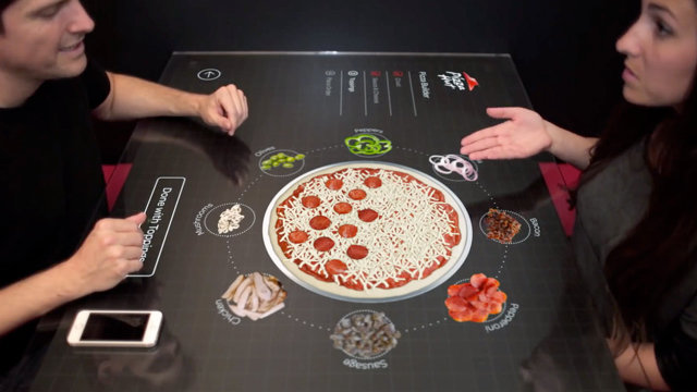 Pizza Hut S Interactive Touch Table Could Be Coming To A